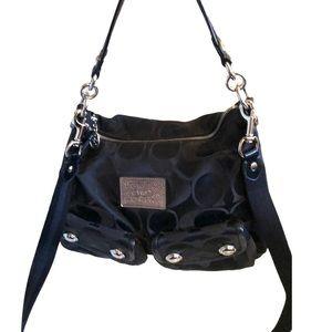 Coach Poppy Black Signature Tote Bag
